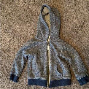 {carter's} Blue hooded sweatshirt 6-9m